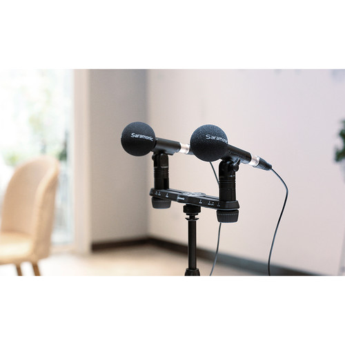 Saramonic SR-M500 Compact Cardioid Condenser Microphone (Matched Pair)