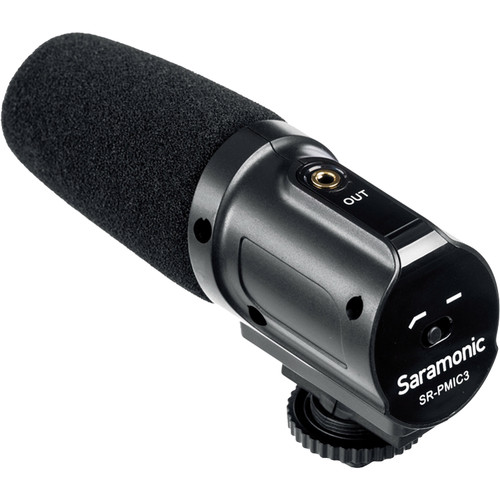 Saramonic SR-PMIC3 3-Capsule Recording Microphone with Integrated Shockmount for DSLR Cameras/Camcorders