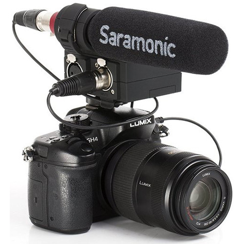 Saramonic MixMic Shotgun Microphone with Integrated 2-Channel Audio Adapter