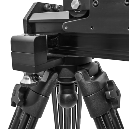VariZoom VariSlider VSM1-U camera slider kit w/ heavy-duty column stands, tripod/stand mounts, and 4″ riser