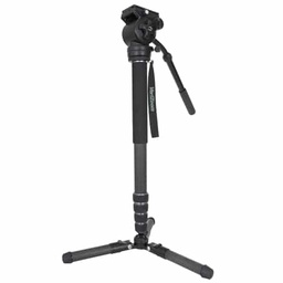 VariZoom CHICKENFOOT-HEAD carbon fiber monopod w/ fluid head